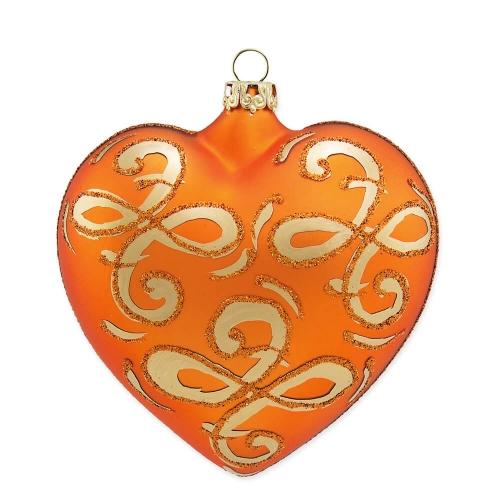 Herz im Fabergé-Stil, sienna matt