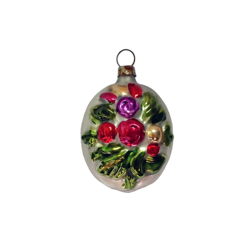 Nostalgisches Blumenstrauß-Medaillon