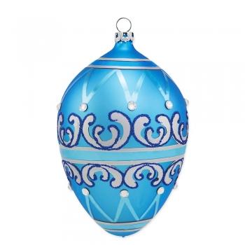Ei im Fabergé-Stil, meerblau