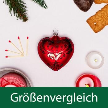 Herz im Fabergé-Stil, rot