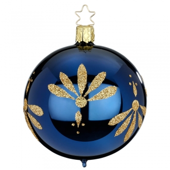 Kugel Art Deco mitternachtsblau