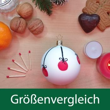 Kugel Christmas Balls, porzellanweiß matt
