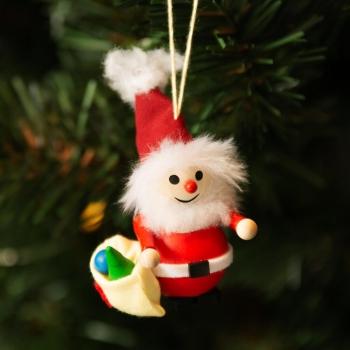 Holzfigur Santa