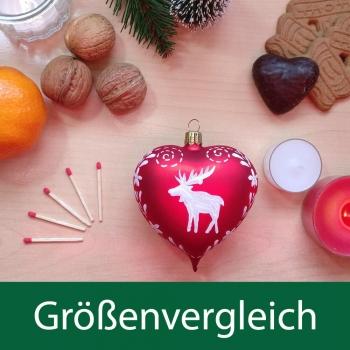 Herz Hirsch rot-weiß