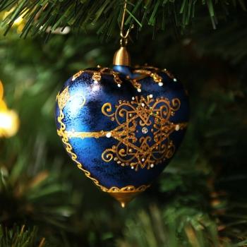 Herz Orientalisch Blau-Gold