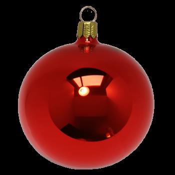 Rote Glaskugel, glänzend