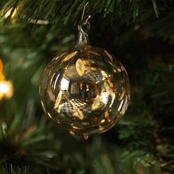 Kugel mit gold-weißen Ranken, 24 Karat Echtgold