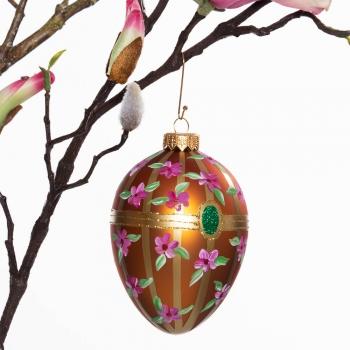 Großes Ei Blütenstreifen auf Bronze